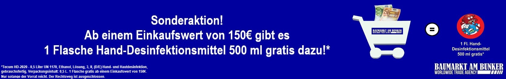 Sonderaktion 150€ HD Shop